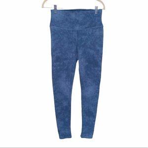 Alo Yoga High Rise Tie Dye Blue Leggings Medium